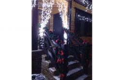 новогоднее оформление коттеджей и загородных домов