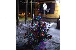новогоднее оформление живой елки